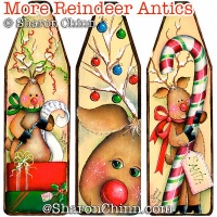 More Reindeer Antics Ornaments ePattern