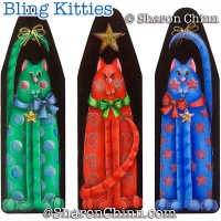 Bling Kitties Ornaments ePattern