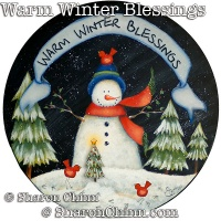 Warm Winter Blessings Snowman ePattern