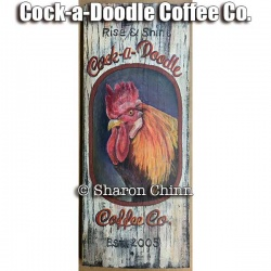 Cock-a-Doodle Coffee Co Sign Video Tutorial and ePattern