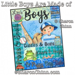 Little Boys Are Made of ePattern by Sharon Chinn
