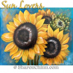 Sun Lovers Sunflowers ePattern by Sharon Chinn