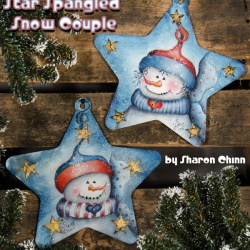 Star Spangled Snowman Couple Video Tutorial and ePattern