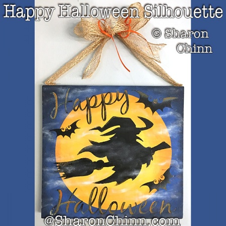 Happy Halloween Silhouette Sign