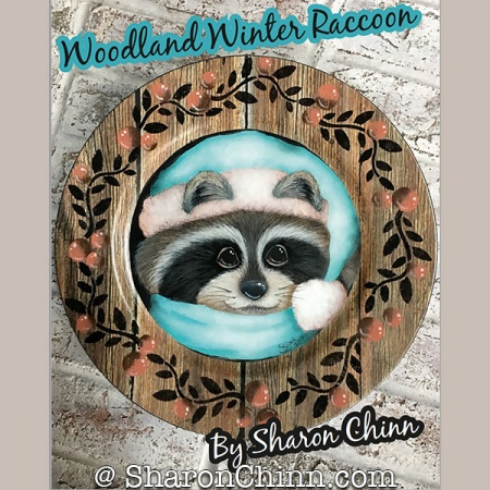 Woodland Winter Raccoon by Sharon Chinn
