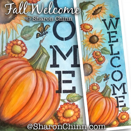 Fall Welcome Sign ePattern